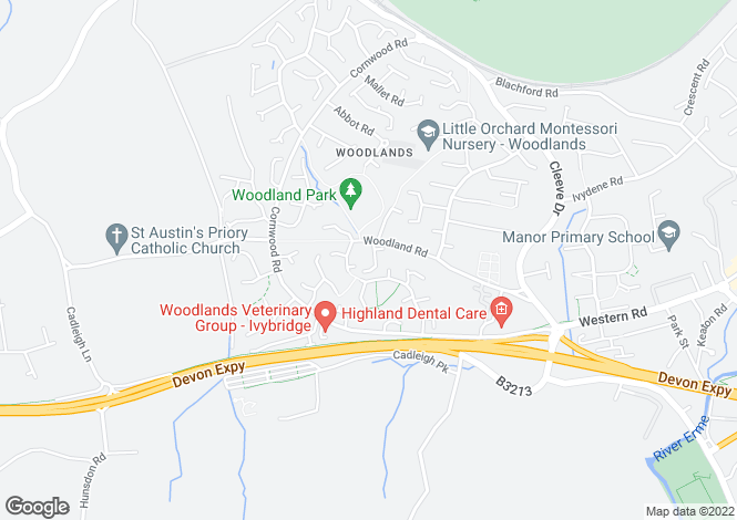 Map for Woodlands Court, Woodland Road, Ivybridge