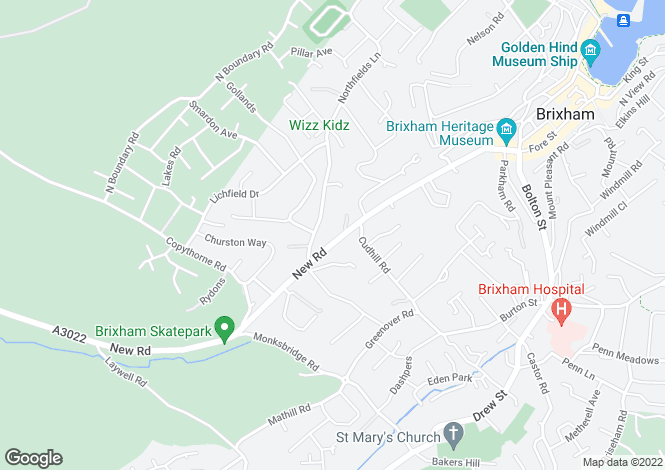 Map for New Road, BRIXHAM