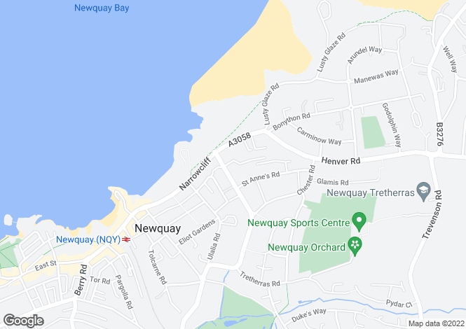 Map for Hilgrove Rd, Newquay