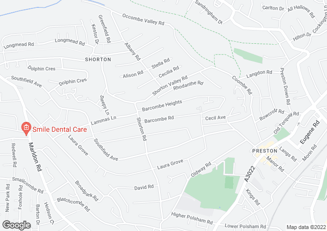 Map for Preston, Paignton