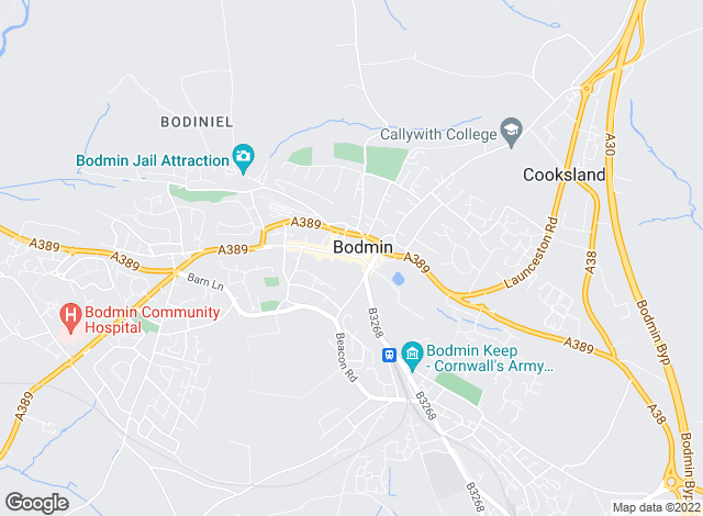 Map for Miller Lettings, Bodmin - Lettings