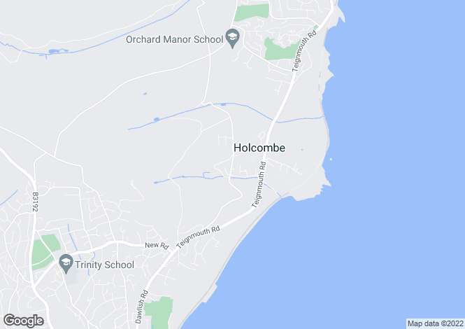 Map for HOLCOMBE, Dawlish