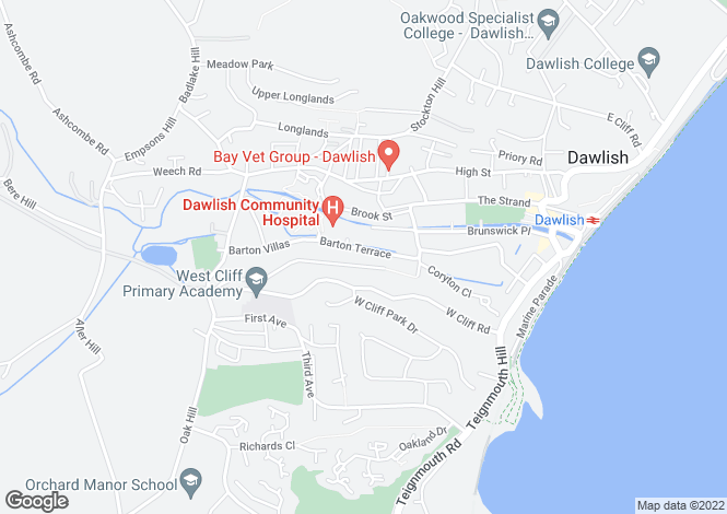 Map for BARTON TERRACE, DAWLISH
