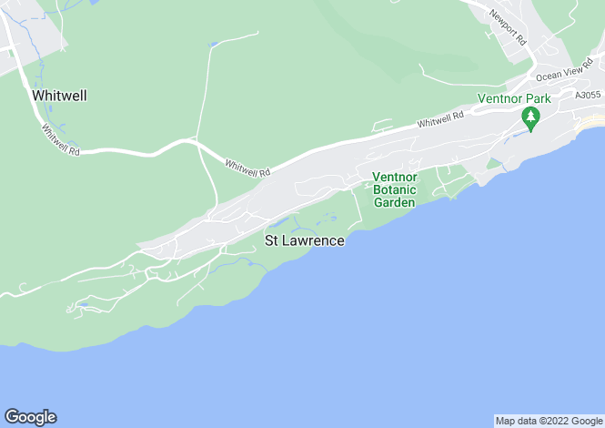 Map for Undercliff Drive, St Lawrence