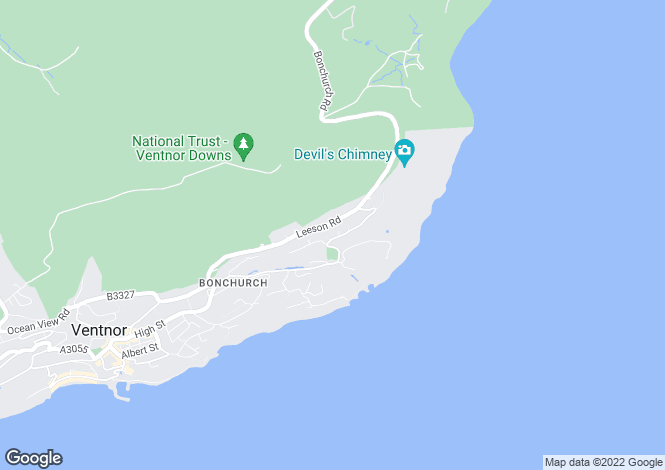 Map for Bonchurch Shute,