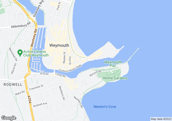 Map for The Esplanade, Weymouth