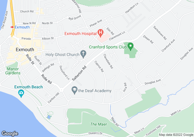 Map for Cyprus Road, EXMOUTH