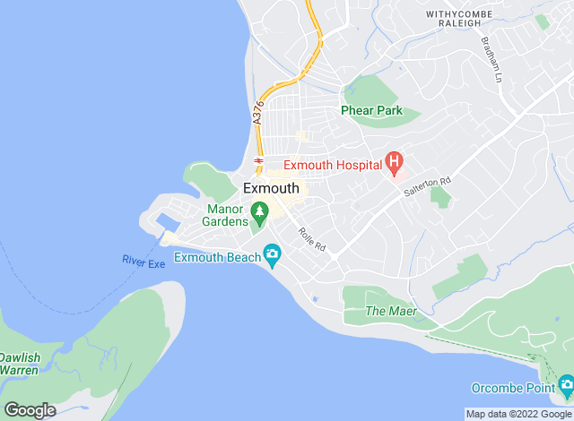 Map for Bradleys, Exmouth