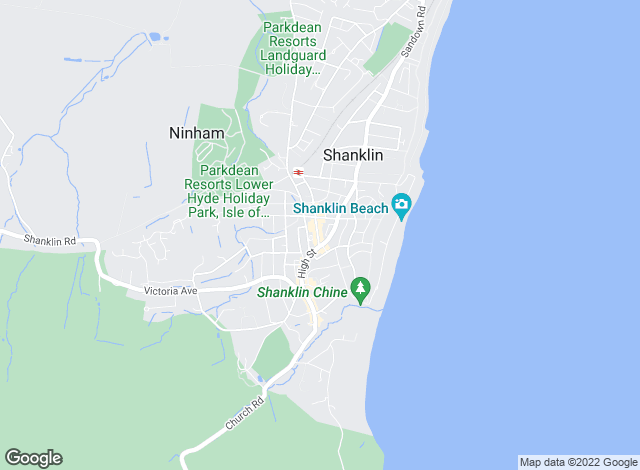 Map for The Wright Estate Agency, Shanklin