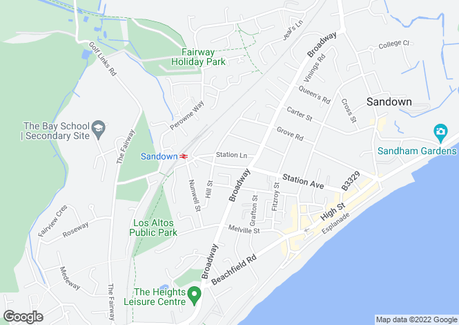 Map for Station Avenue, Sandown, Isle of Wight