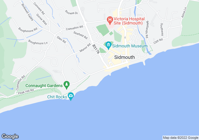 Map for Sidmouth Seafront