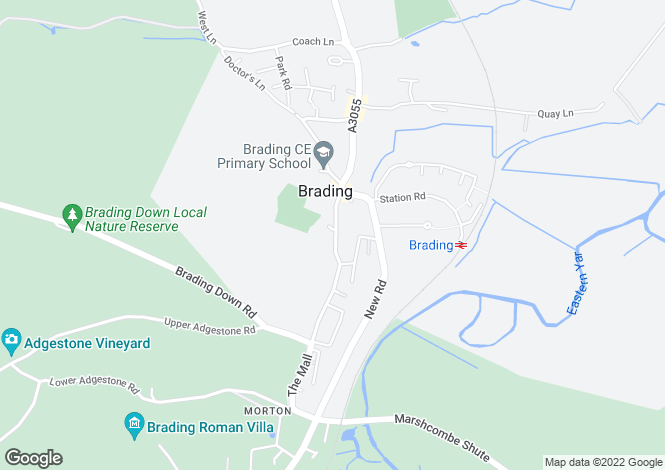 Map for The Mall, Brading, Isle of Wight, PO36 0DE