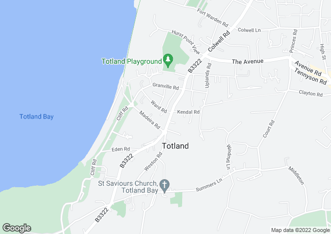 Map for Jameson Court, Totland