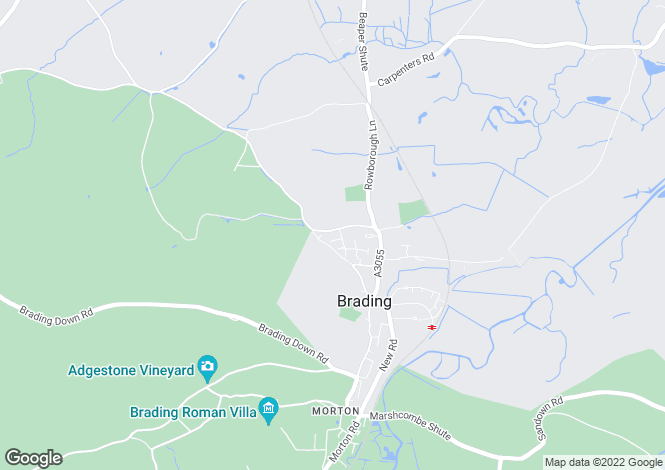 Map for Brading, Isle Of Wight