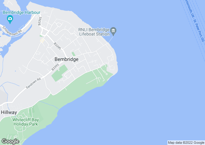 Map for Paddock Drive, Bembridge, Isle of Wight, PO35 5TL