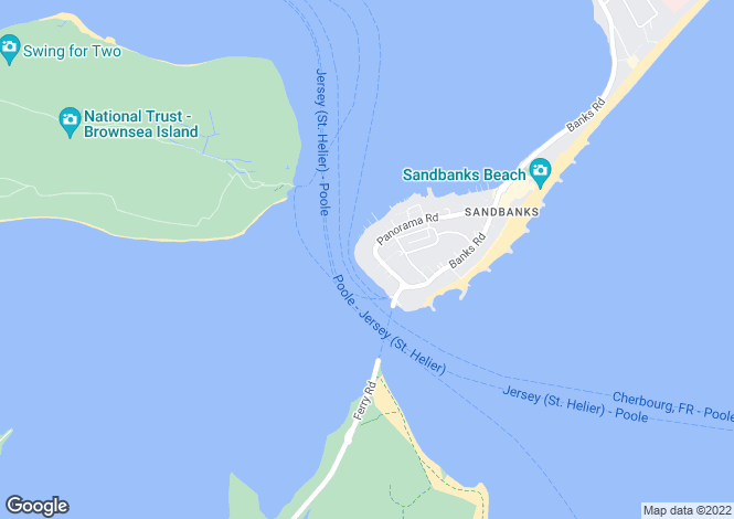 Map for Harbour Watch, Sandbanks, Poole, Dorset