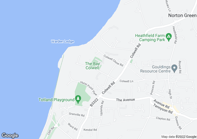 Map for Totland Bay PO39 0DA