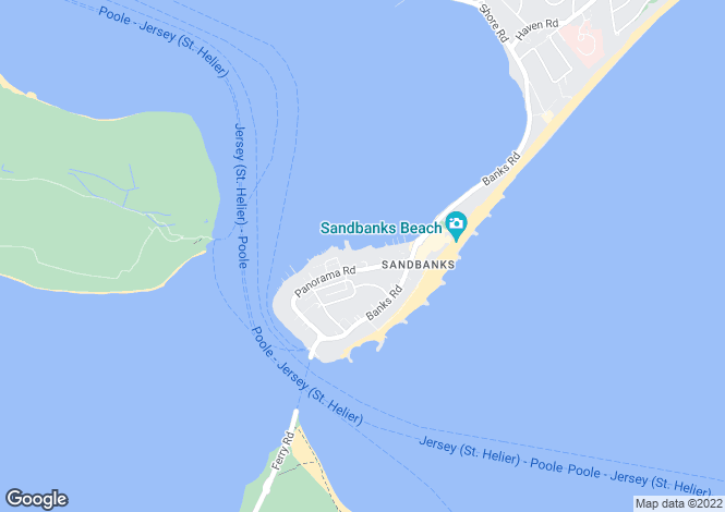 Map for The Horseshoe Sandbanks