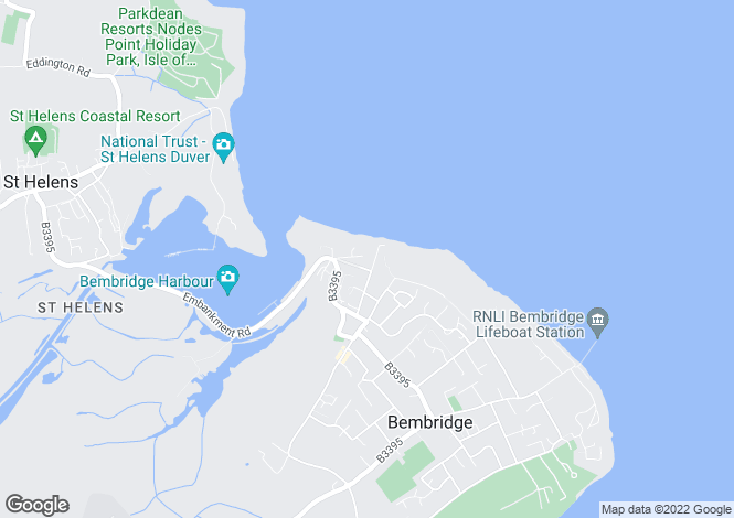 Map for Ducie Avenue, Bembridge