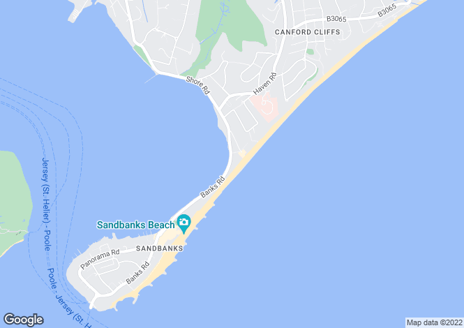 Map for Sandbanks, BH13