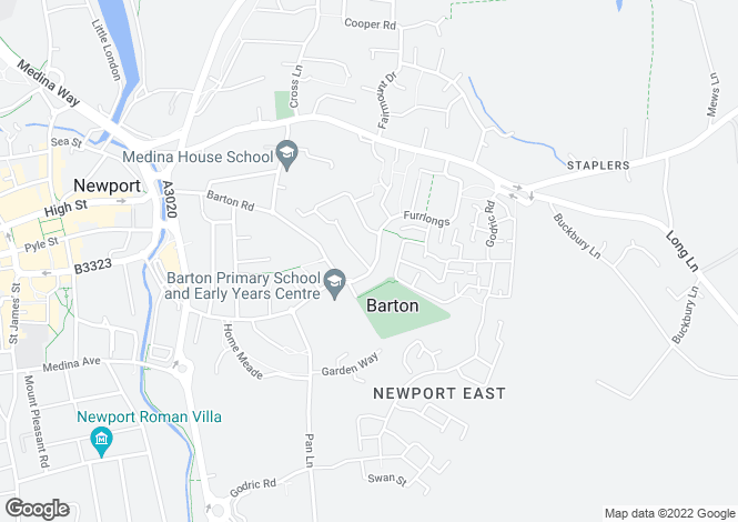 Map for Furrlongs, Newport