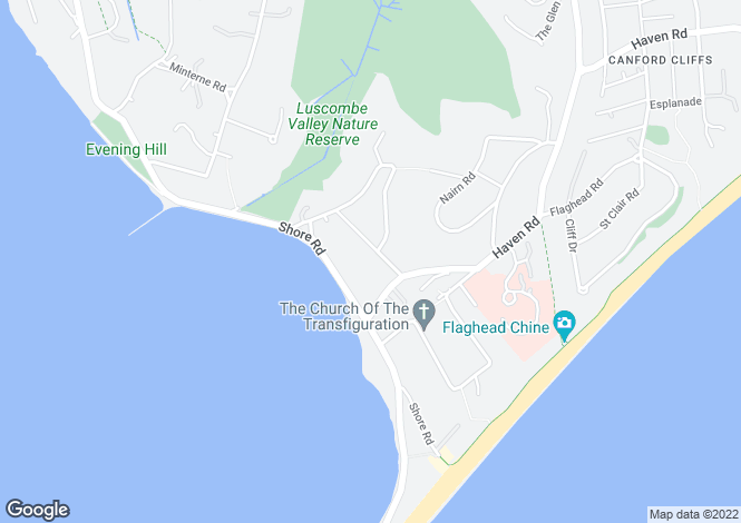 Map for Brudenell Road, Sandbanks, Poole