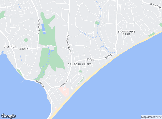 Map for Savills, Canford Cliffs