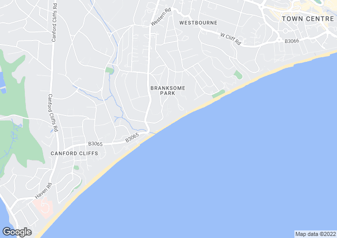Map for Branksome Park, POOLE, Dorset