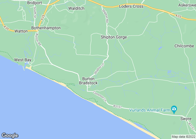Map for Shipton Lane, Burton Bradstock, Bridport, Dorset