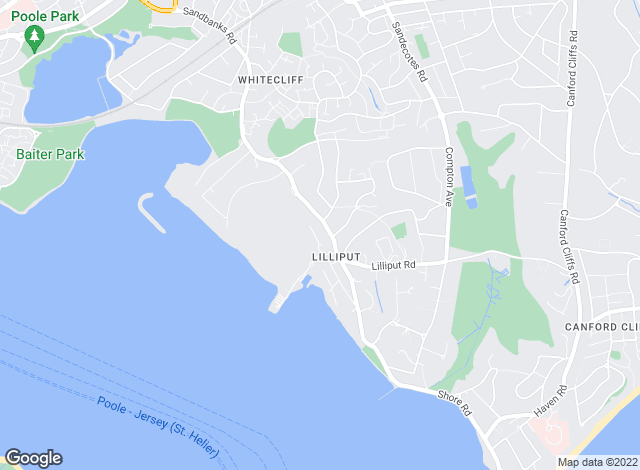 Map for Key Drummond, Lilliput, Poole
