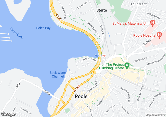 Map for AQUA, Lifeboat Quay, Poole, Dorset