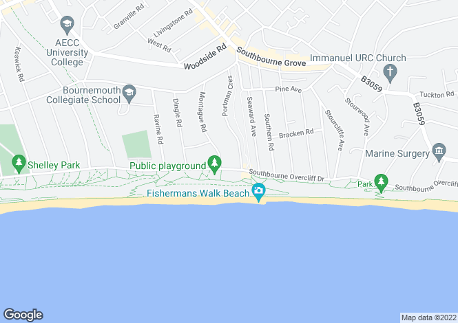 Map for Southbourne Overcliff