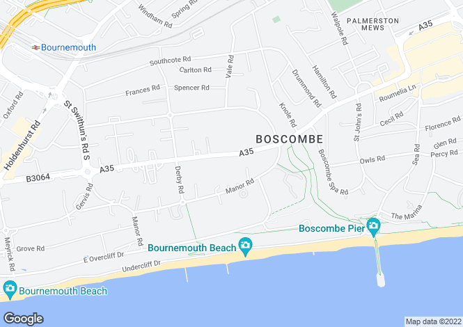 Map for Christchurch Road,