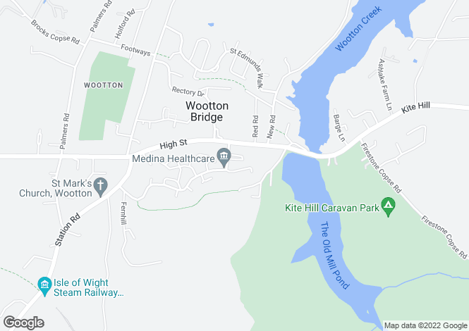 Map for Wootton   PO33 4LW