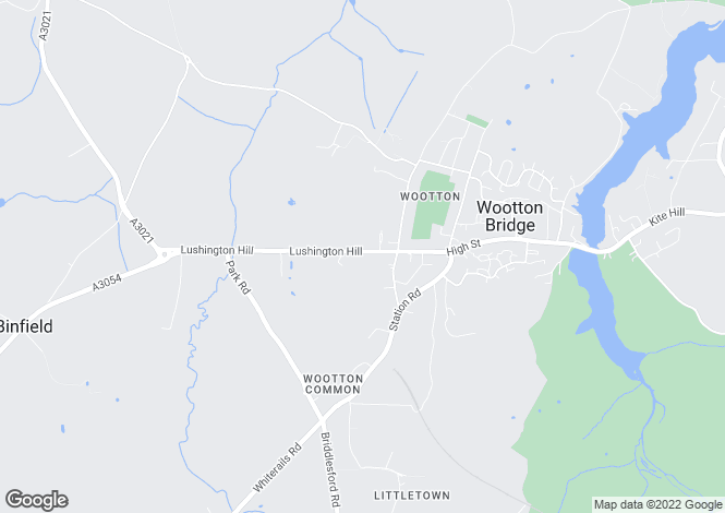 Map for Lushington Hill, Wootton