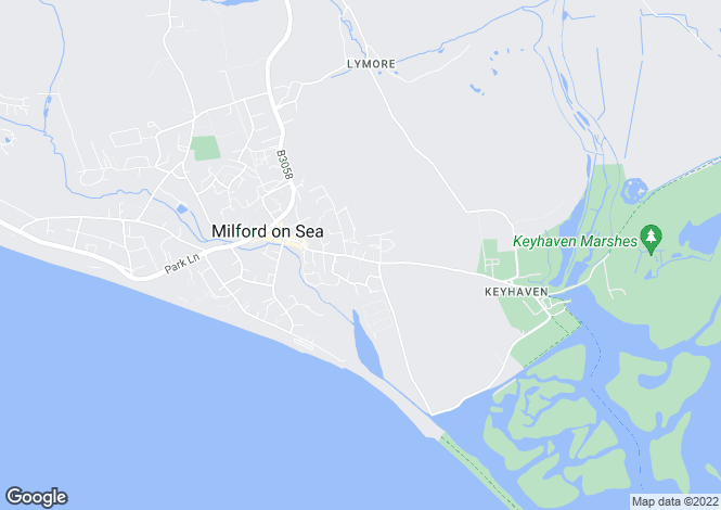 Map for Keyhaven Road, Milford On Sea, SO41