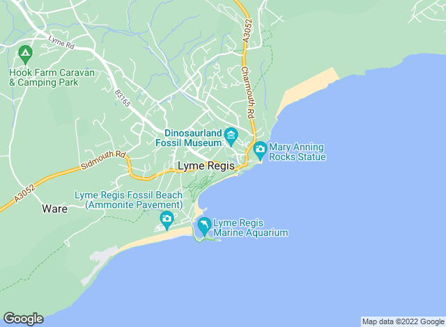 Map for Martin Diplock Chartered Surveyors, Lyme Regis