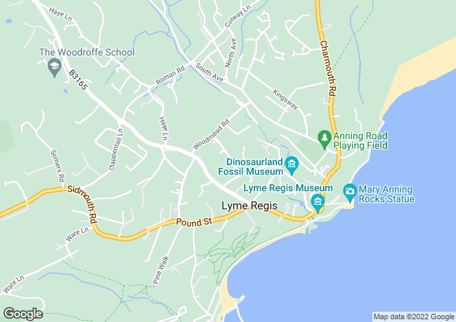 Map for View Road, Lyme Regis
