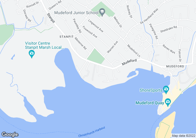 Map for Mudeford