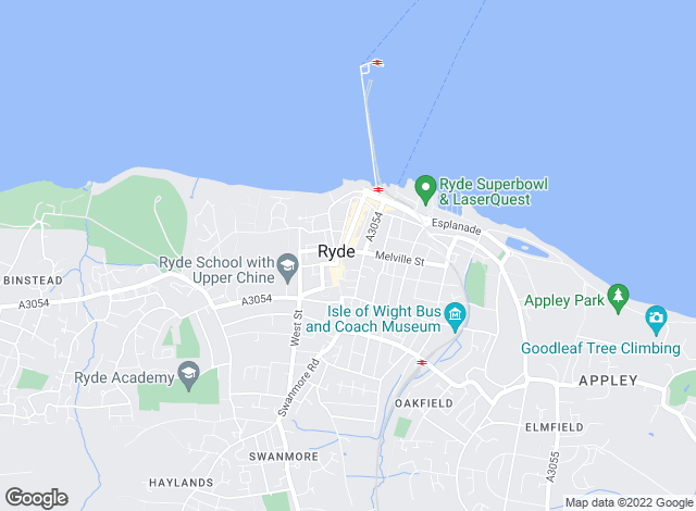 Map for Marvins, Isle Of Wight  - Lettings