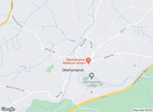 Map for Godfrey Short & Squire, Okehampton