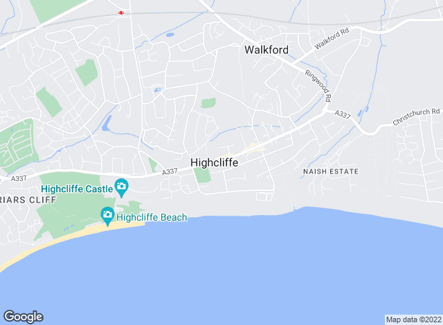 Map for Winkworth, Highcliffe