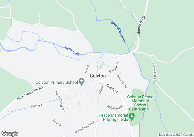 Map for Colyton, Colyton, Devon, EX24