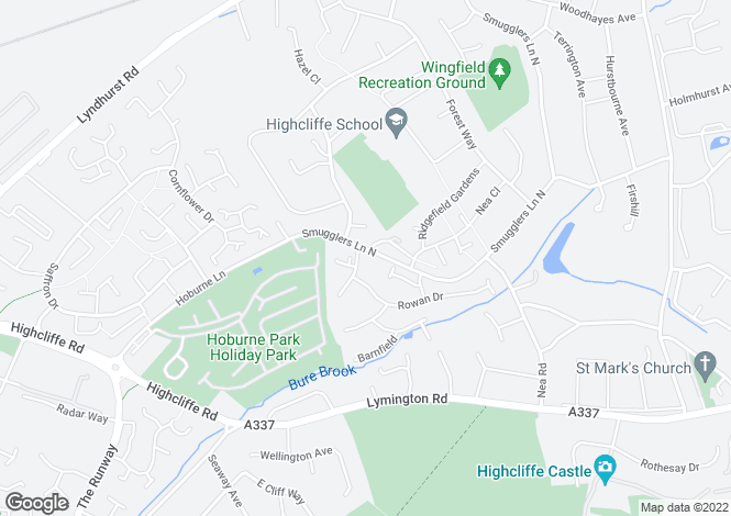 Map for Highcliffe