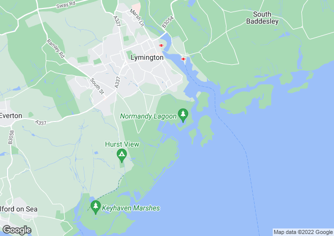 Map for Normandy Lane, Lymington, Hampshire