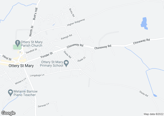 Map for Ottery St Mary