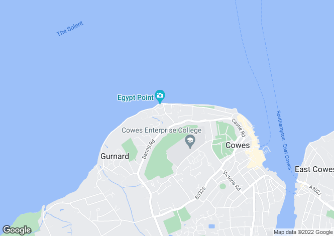 Map for Egypt Hill, Cowes