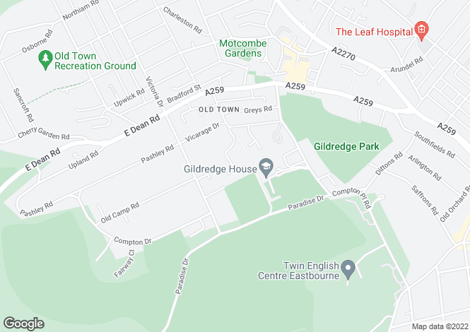 Map for Rectory Close, Eastbourne