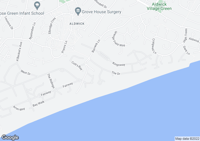 Map for Aldwick, West Sussex
