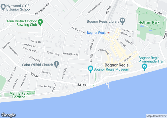 Map for Cavendish Road, Bognor Regis, PO21